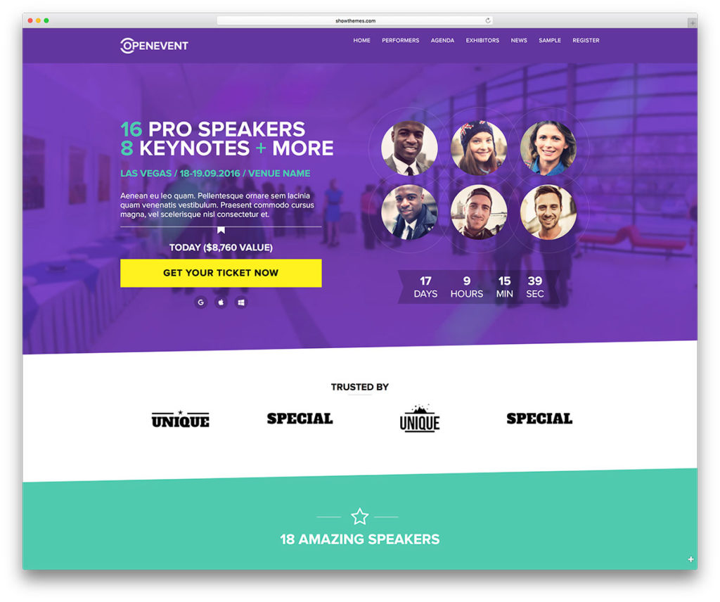 WordPress Event Website Theme - Conference Pro