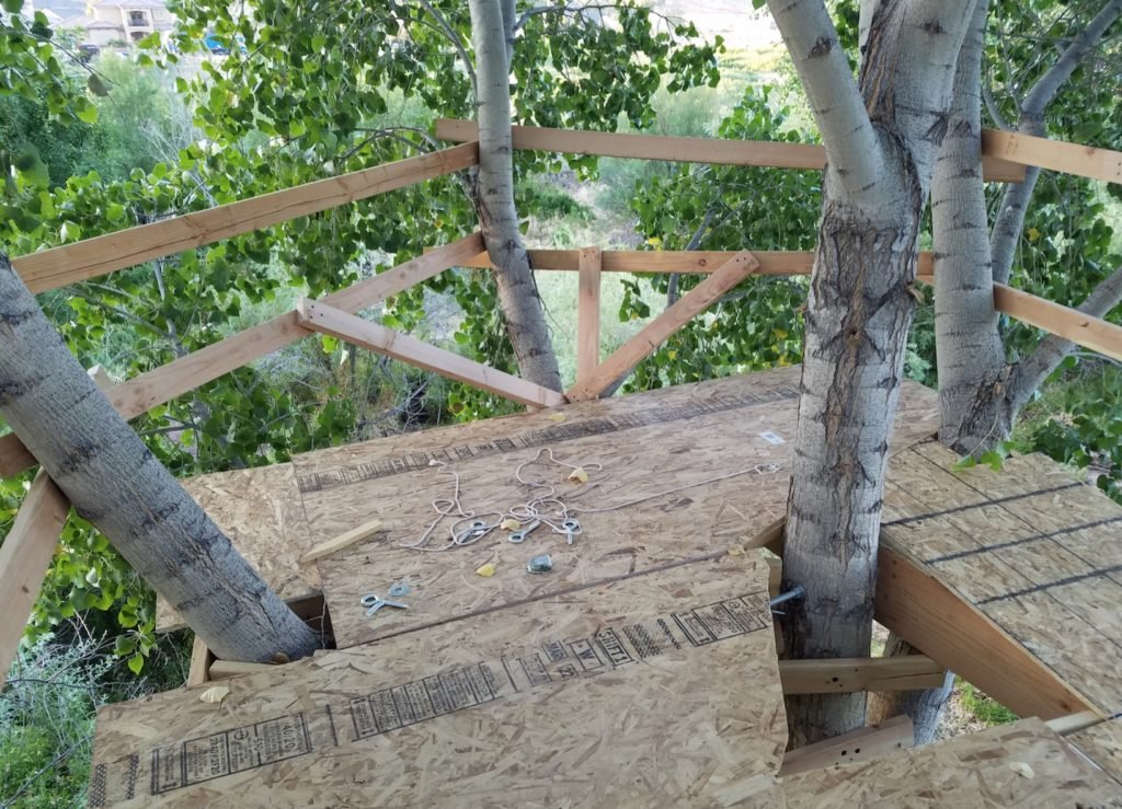 Treehouse siderails and trap door
