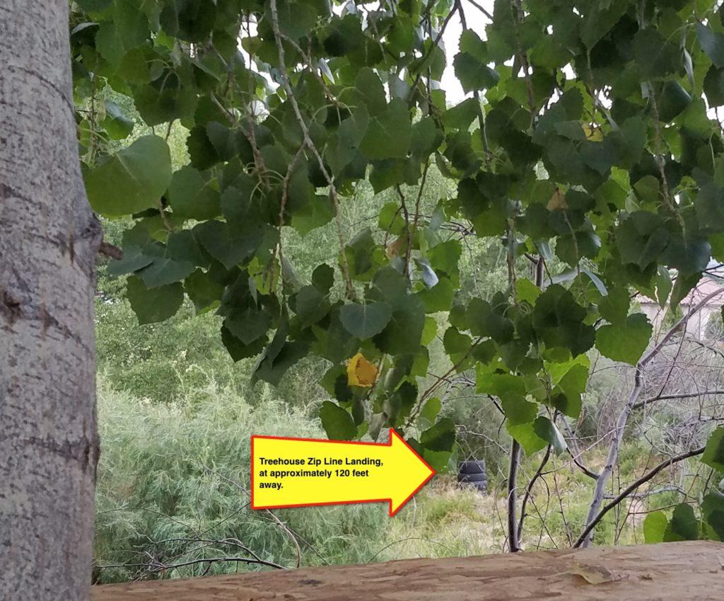Zipline Landing Zone from Treehouse