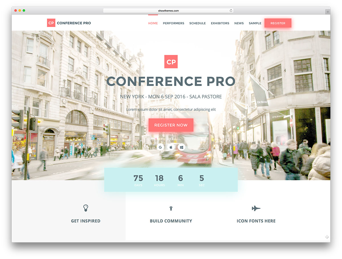 Conference Web Templates