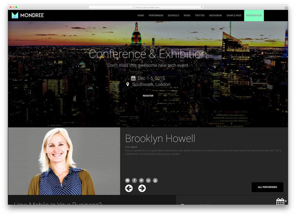 WordPress Event Website Theme